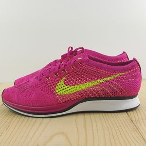nike shoes nike flyknit racer size 13 fireberry volt pink
